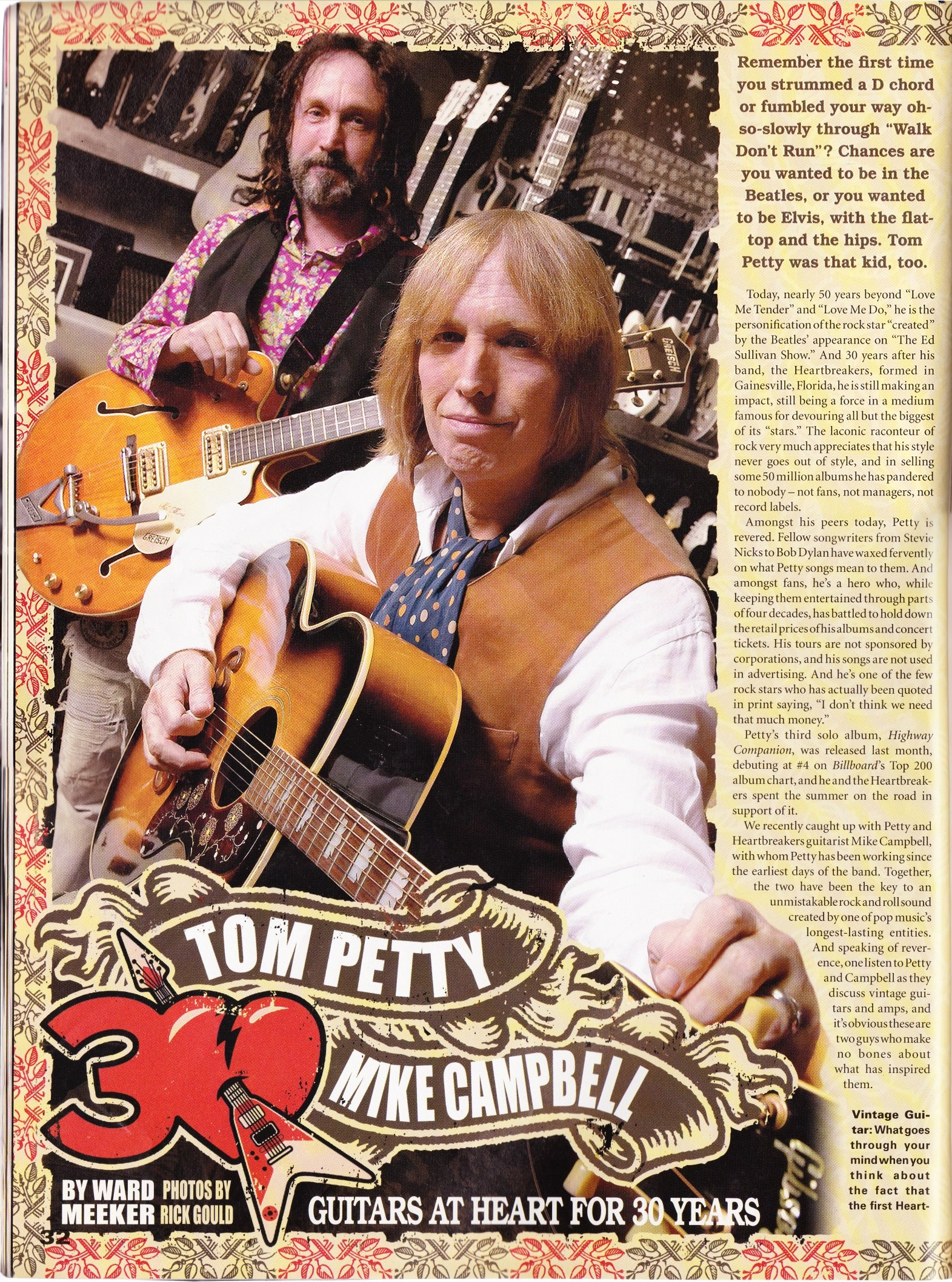 Vintage Guitar November 2006 The Petty Archives