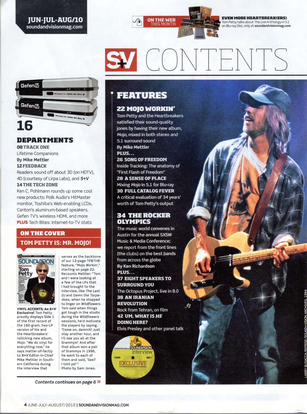 Sound & Vision - June-July-August 2010 - The Petty Archives
