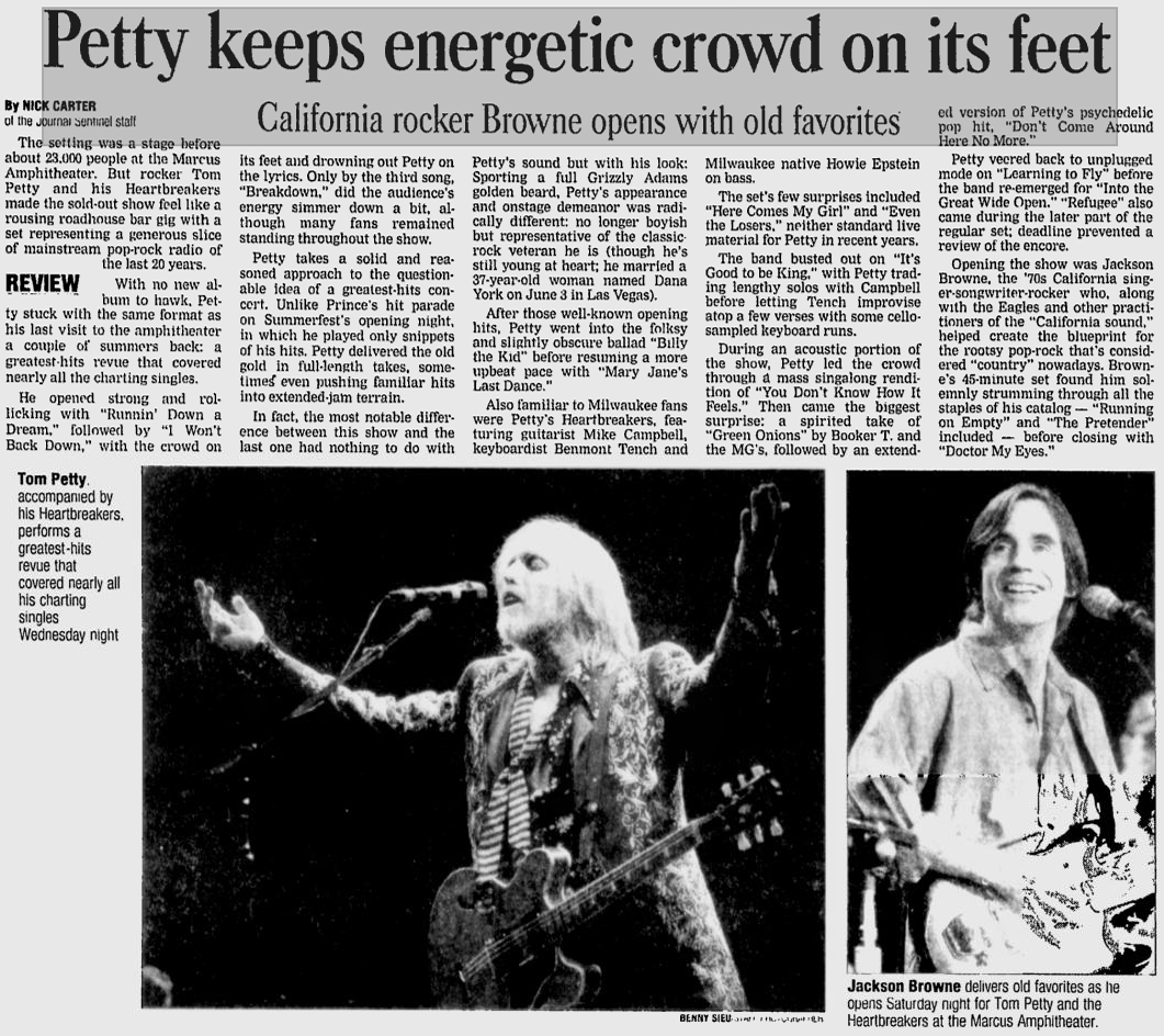 Milwaukee Journal Sentinel July 5 2001 The Petty Archives